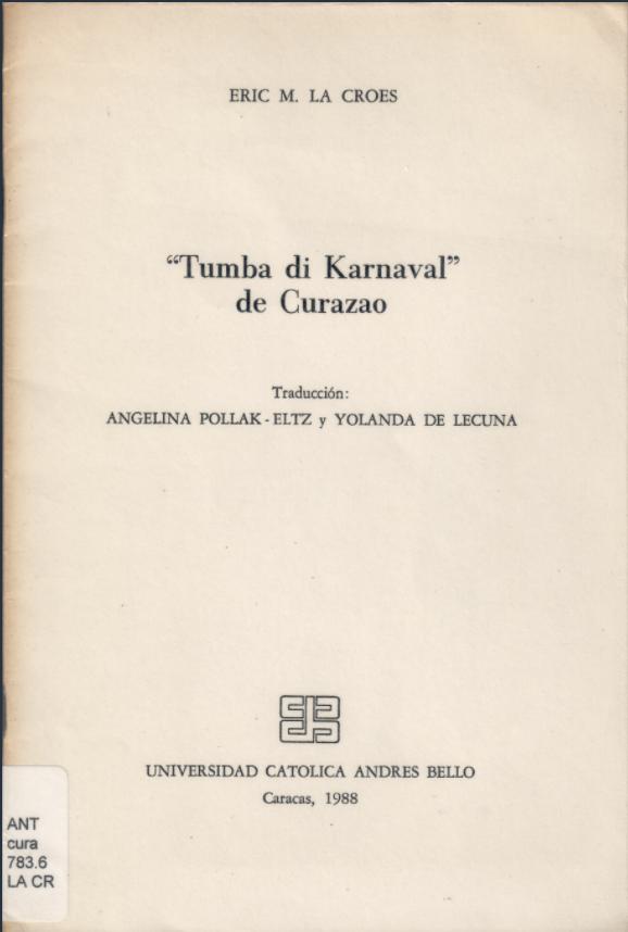 """""""Tumba di Karnaval"""" de Curazao"""