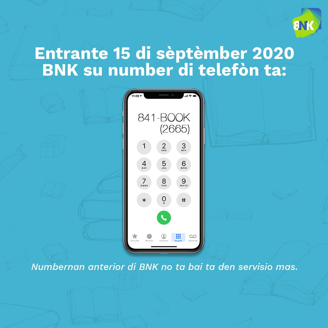 Number di telefòn nobo