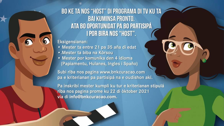 Presentadó pa programa di tv pa BNK